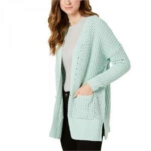NWT Style & Co Chunky Chenille Cardigan Small Mint